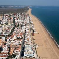 Vista aerea playa de La Antilla - Nueva Umbria