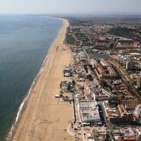Vista aerea playa de Islantilla